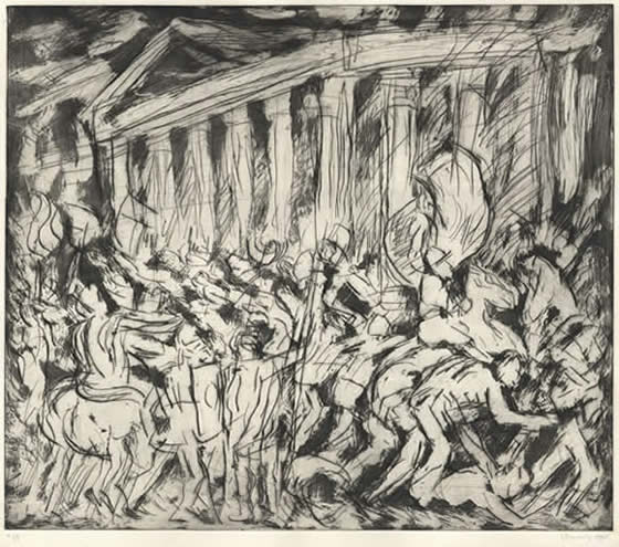 """From Poussin: The Destruction and Sack of the Temple of Jerusalem"" by LEON KOSSOFF"