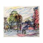Frank Auerbach: 1 of 2 Studies for 'Camden Palace'